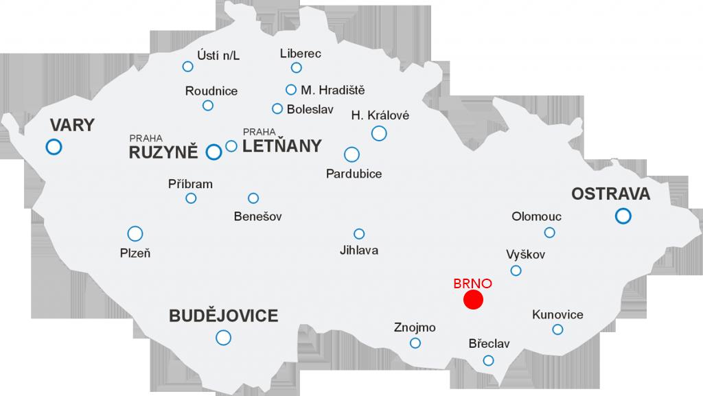Odlety Aerotaxi z letiště Brno Tuřany
